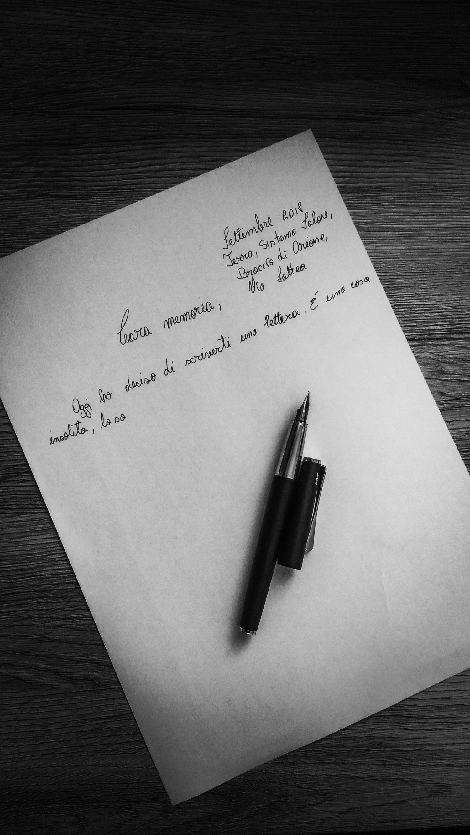 Lettera alla mia memoria