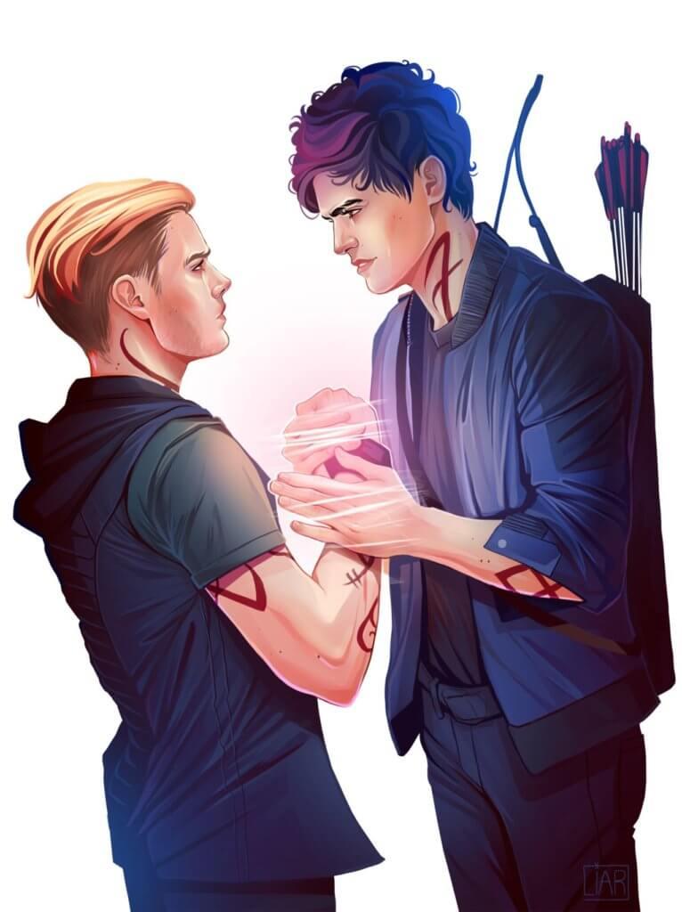 Alec e Jace parabatai